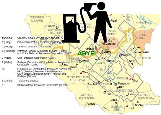 ABYEI OIL MAP